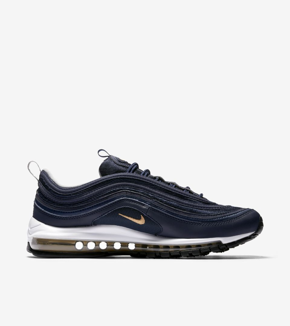 quality design f84f6 79c86 Nike Air Max 97 'Midnight Navy & Metallic Gold' Release Date ...