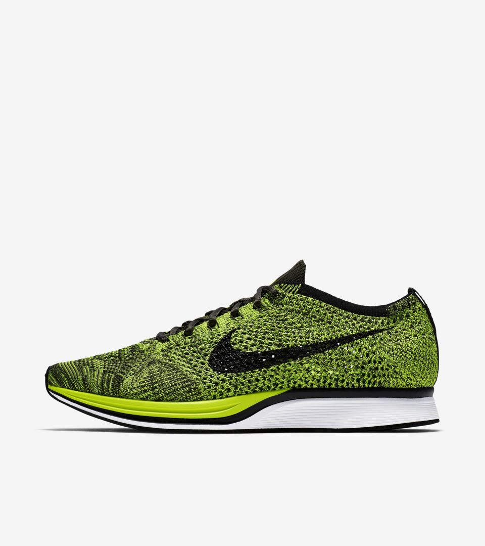 e057021eff02 Nike Flyknit Racer  Volt  Release Date. Nike+ SNKRS