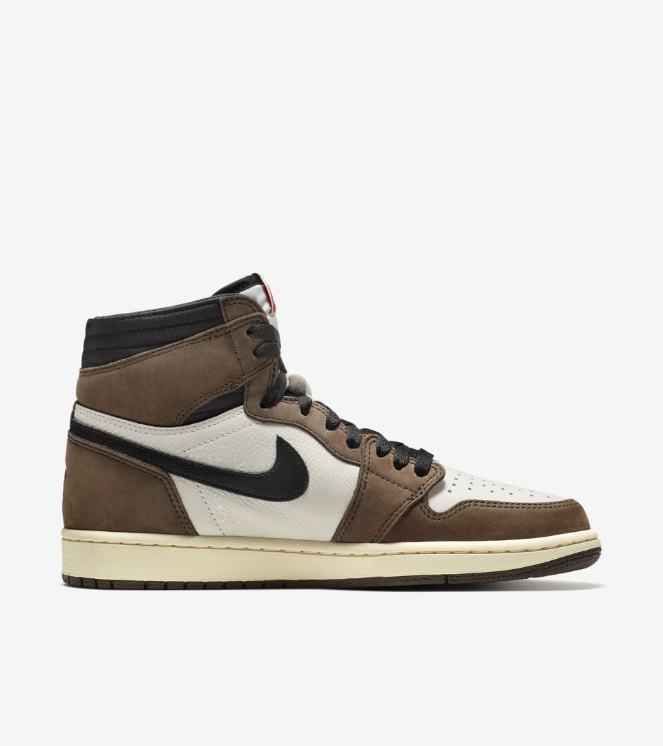 official photos 0058d 00064 Air Jordan 1 High 'Travis Scott' Release Date. Nike⁠+ SNKRS