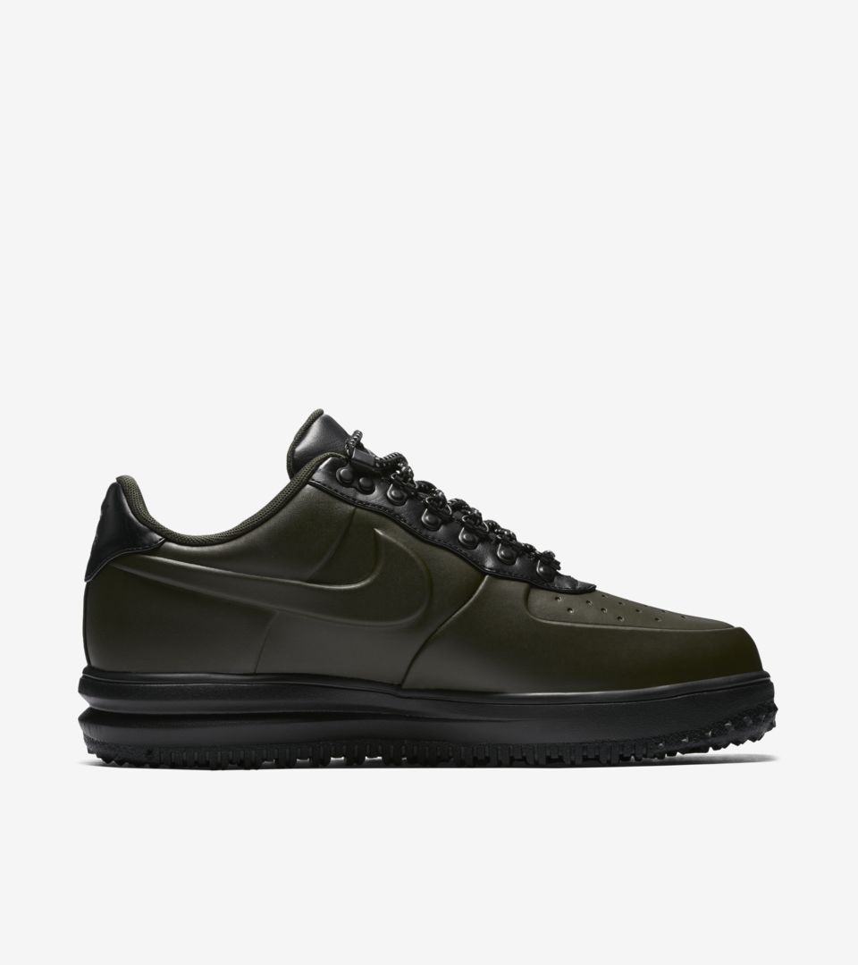 09d33a109638f7 Nike Lunar Force 1 Duckboot Low  Sequoia and Black  Release Date ...