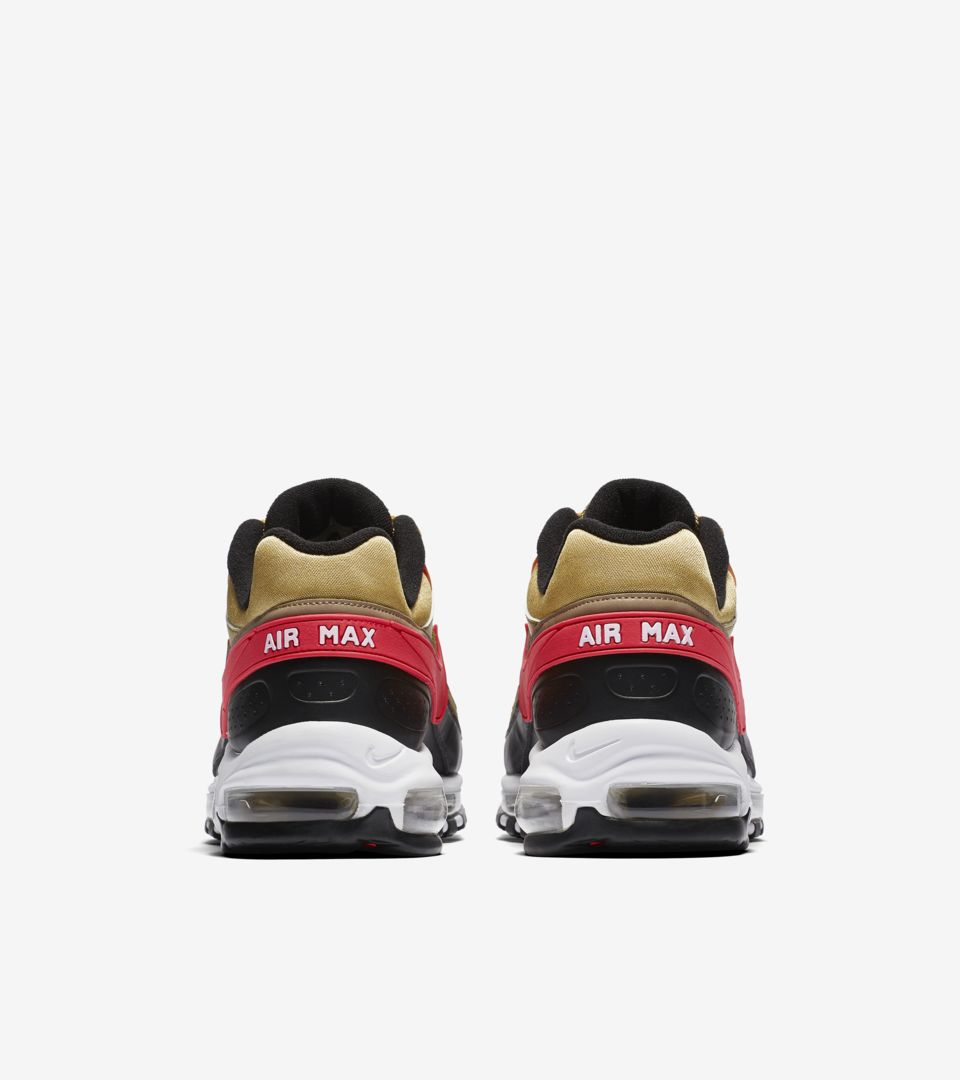 huge discount 94d39 b9d07 Nike Air Max 97/BW 'Metallic Gold & Black & University Red' Release ...