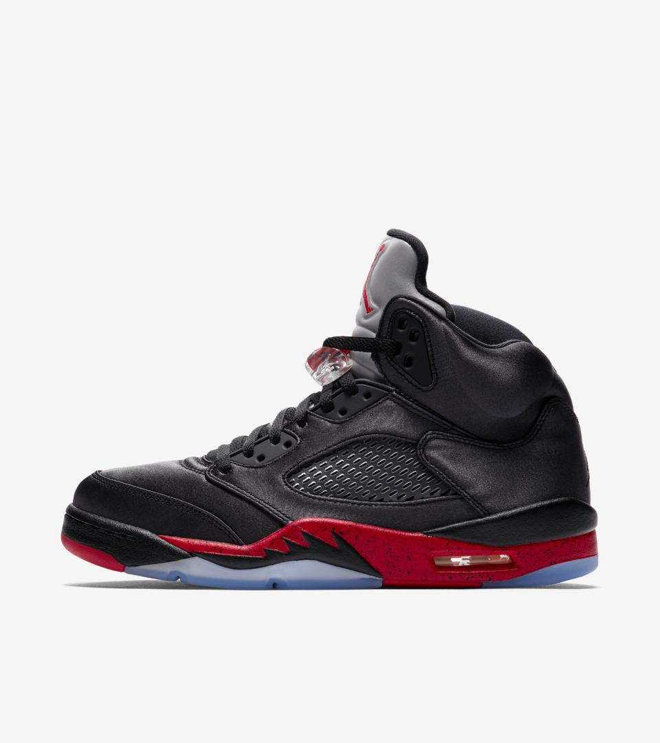 outlet store 13b04 4283b Air Jordan 5 'Black & University Red' Release Date. Nike⁠+ SNKRS