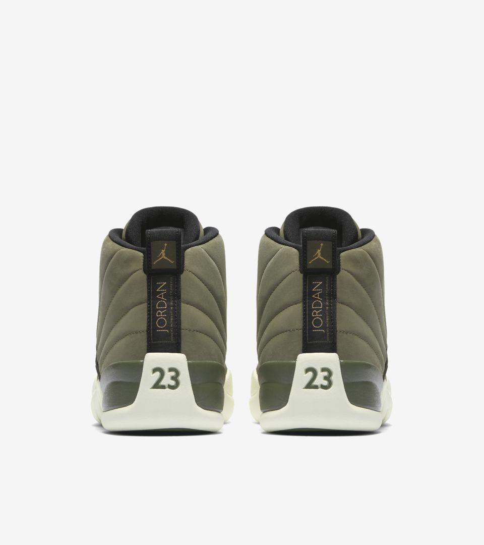 fbd90bab69e4e3 Air Jordan 12 Retro  Olive Canvas   Metallic Gold  Release Date ...