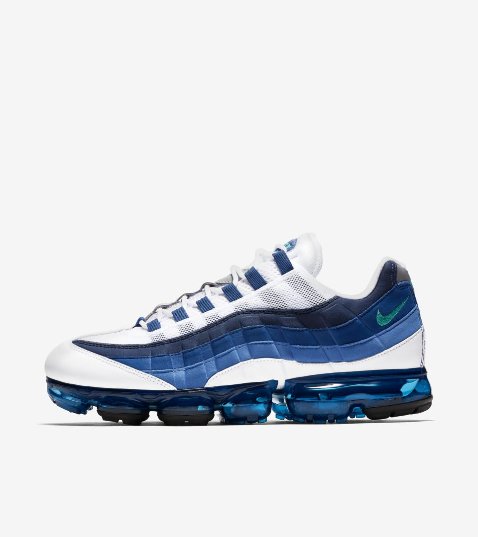 Nike Air Vapormax 95 White French Blue Release Date Nike Snkrs