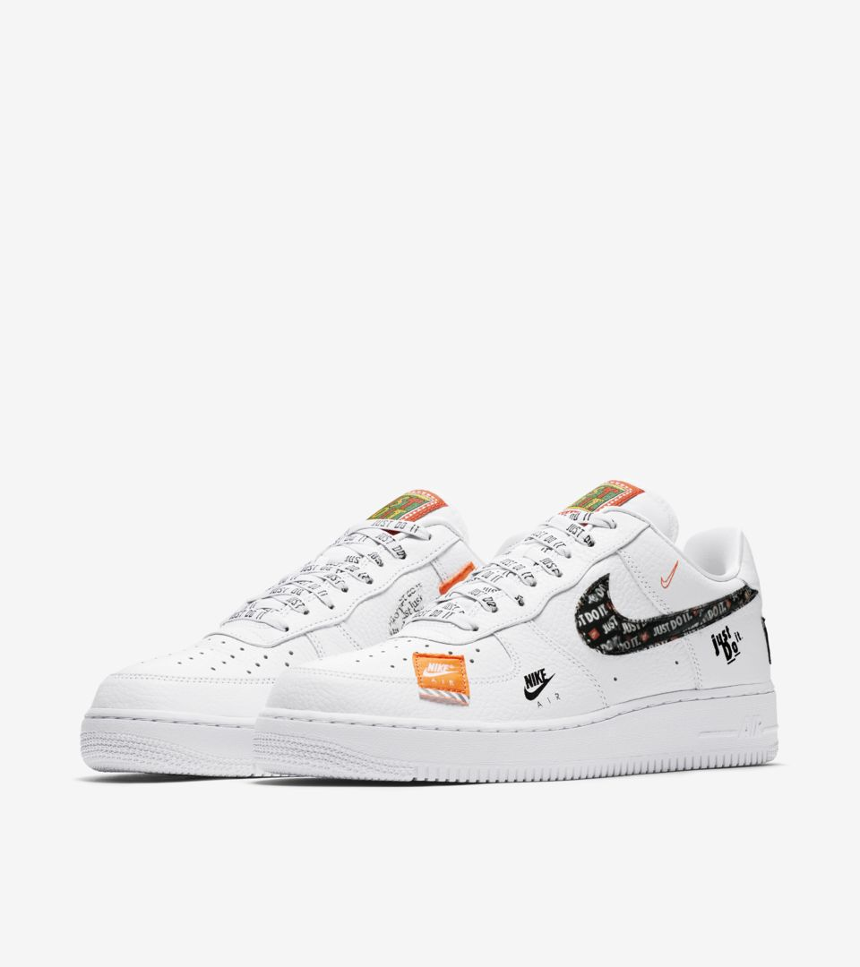 pretty nice 35132 68999 Nike Air Force 1 Premium Just Do It Collection White  Total