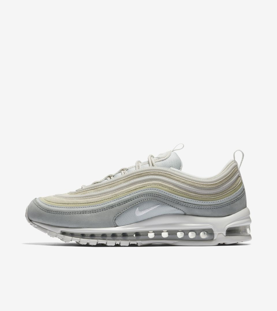 3bcc3d5367b Nike Air Max 97 Premium  Light Pumice   Summit White  Release Date ...