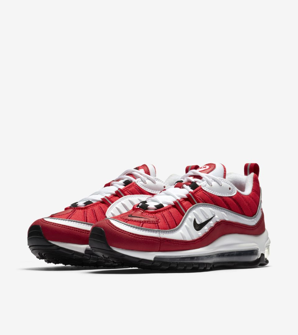 Date de sortie de la Nike Air Max 98 « White & Gym Red ...
