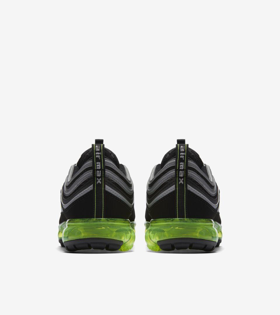 99ba7212153 Nike Air Vapormax 97  Black   Volt   Metallic Silver  Release Date ...