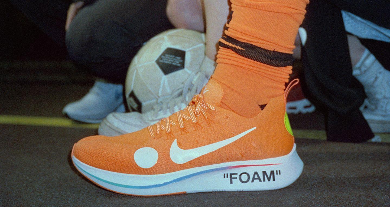 OFF WHITE x Nike Zoom Fly Mercurial Flyknit Total Orange