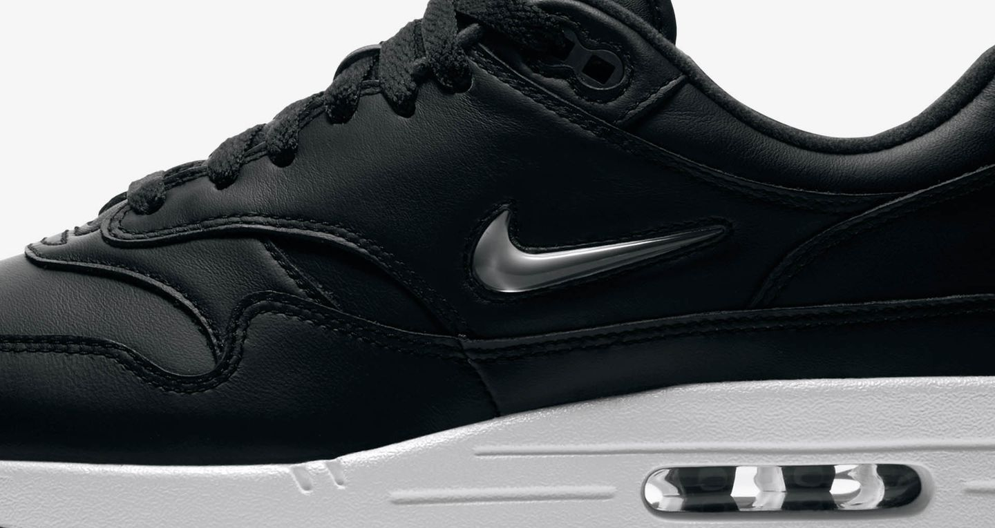Nike Air Max 1 Premium Jewel 'Black & Pure Platinum
