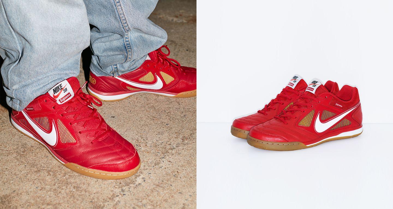 Nike SB Gato Qs Supreme 'Gym Red & White & Cyber