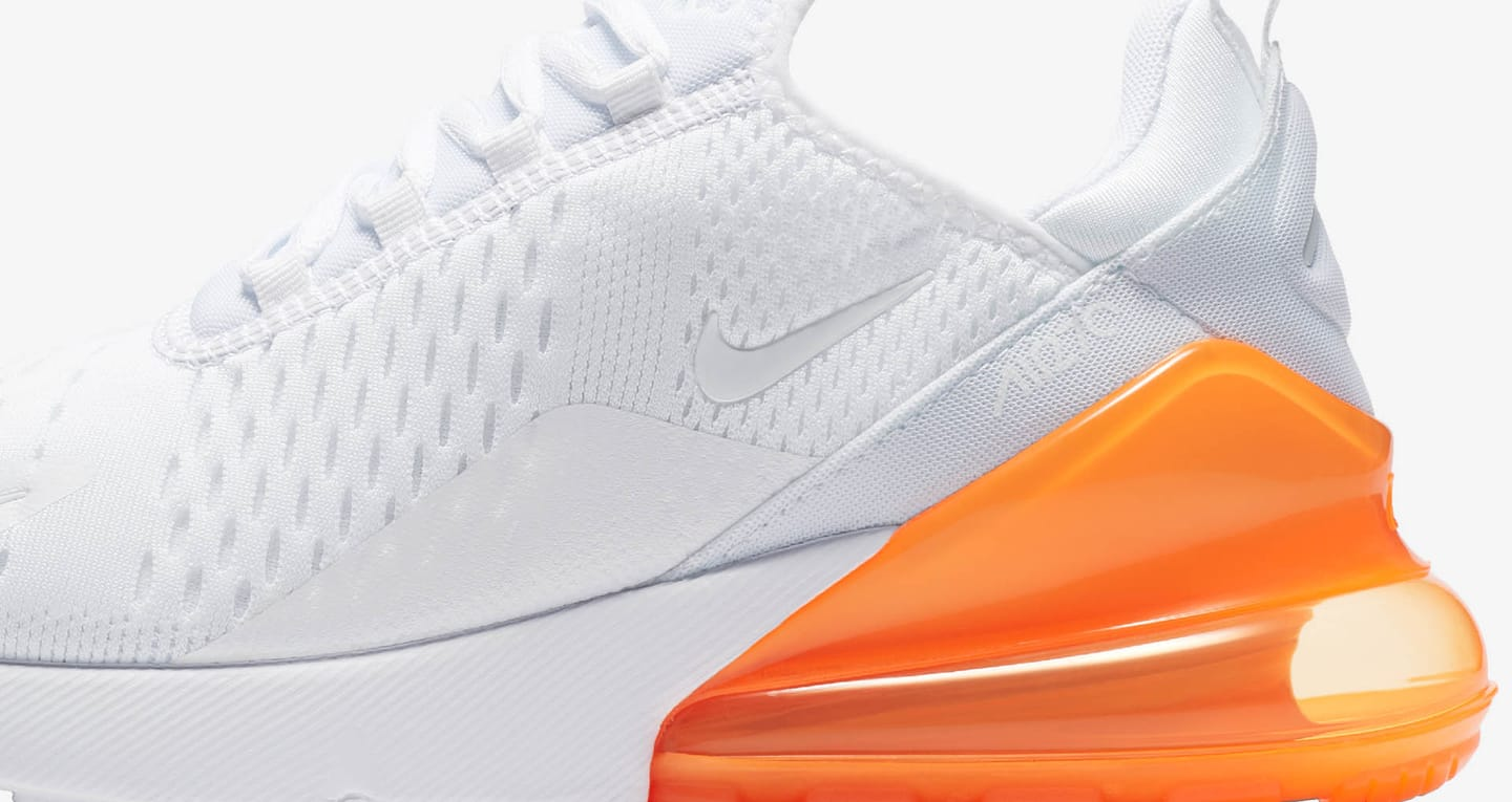 nike air max 270 white and orange