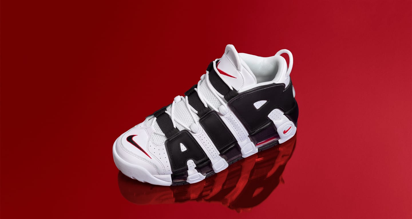 Nike Air More Uptempo 96 « White & University Red &