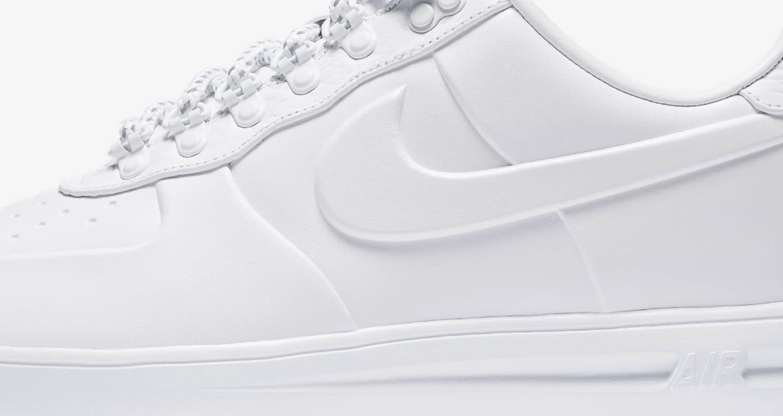 Nike Lunar Force 1 Duckboot Low 'Triple White' Release Date
