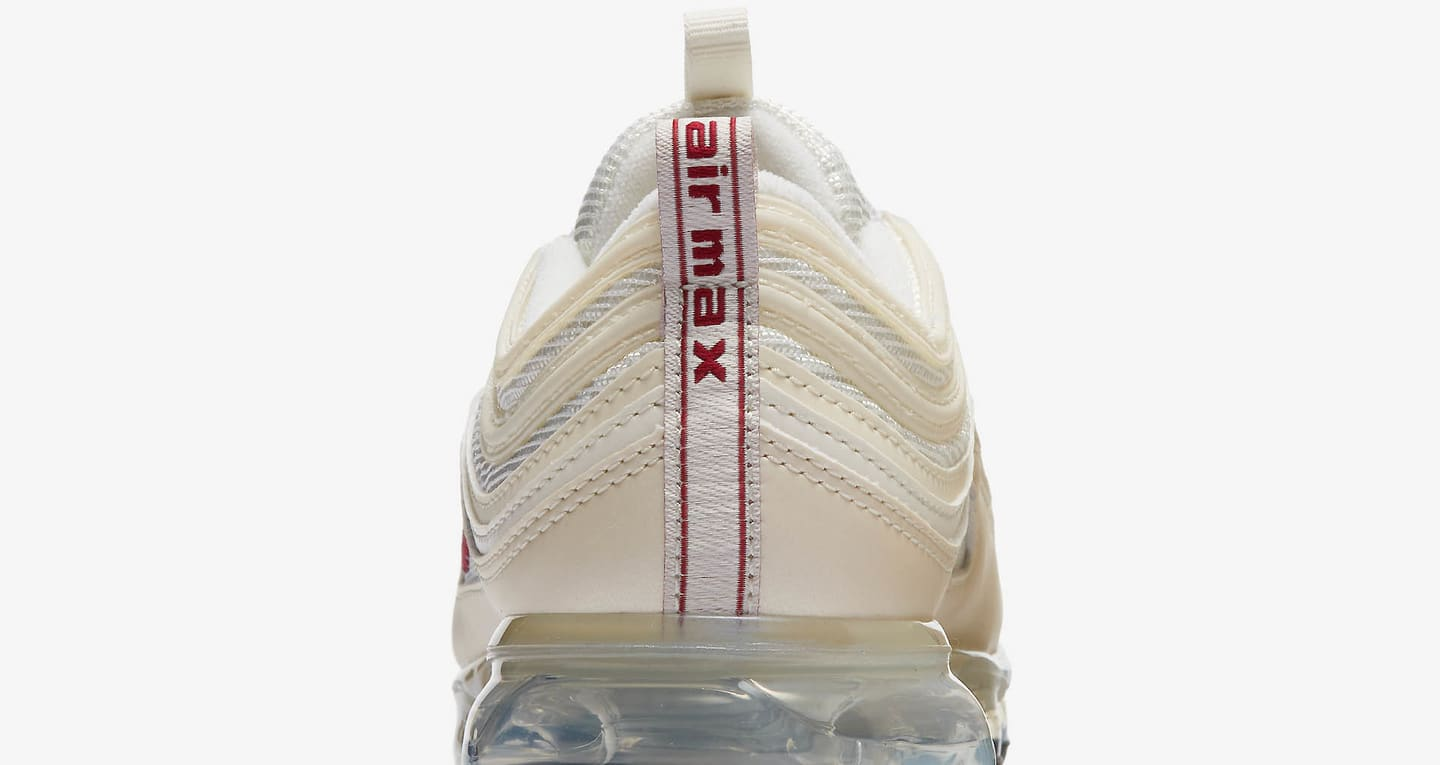 nike air max 97 vapormax shoes beige/white/red