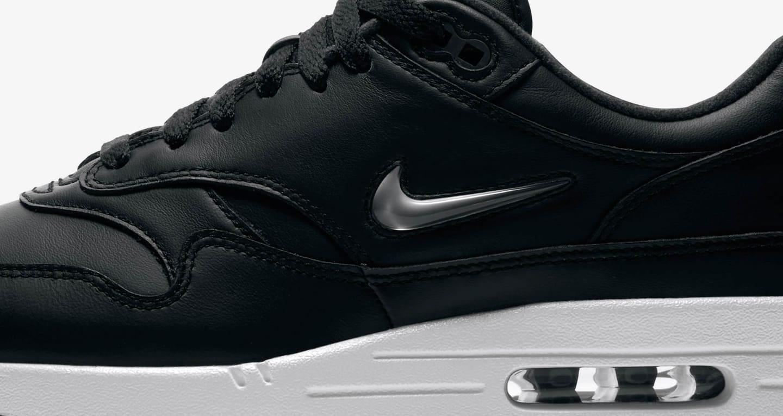Nike Air Max 1 Premium Jewel 'Black & Pure Platinum