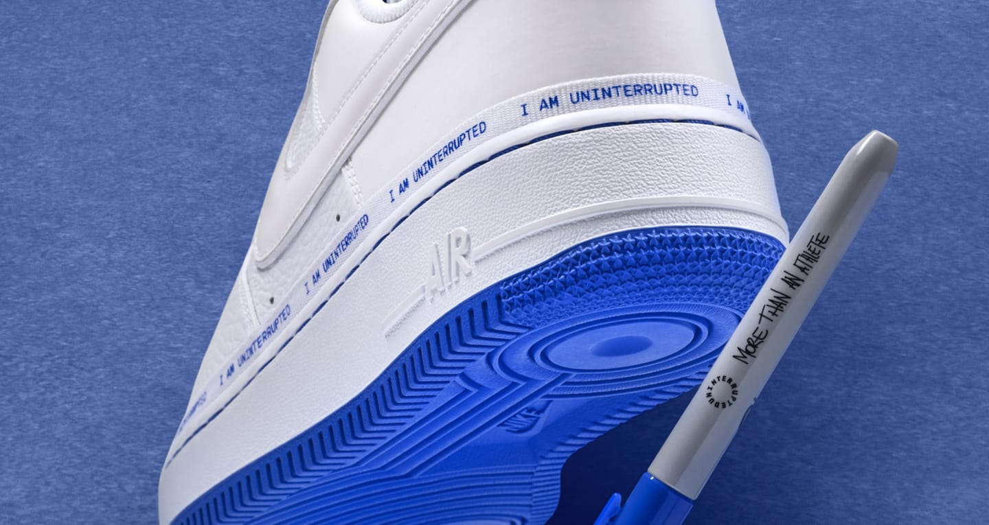 Nike Air Force 1 More Than An Athlete brand collaboration with Sharpie
