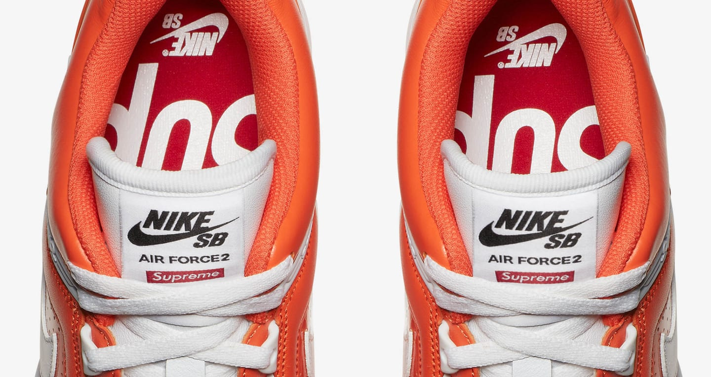 Nike SB AF2 Low Supreme Orange Blaze. Nike SNEAKRS IT