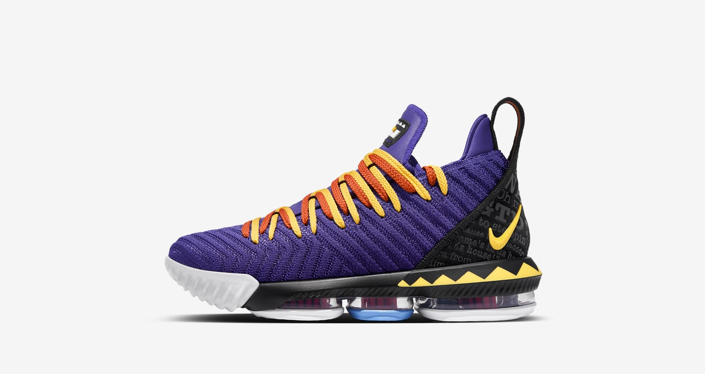 We Will Fit shirt for the NIKE Lebron 16 Martin Purple Yellow