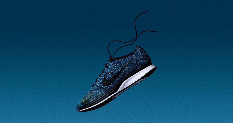 Nike Flyknit Racer « Blue Glow & Yellow Strike ». Nike