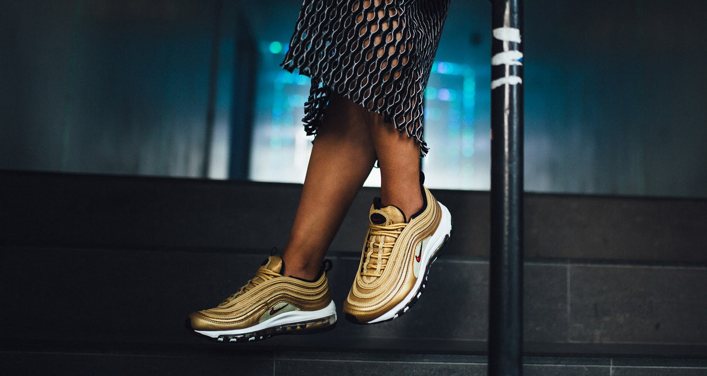 nike air max 97 gold femme