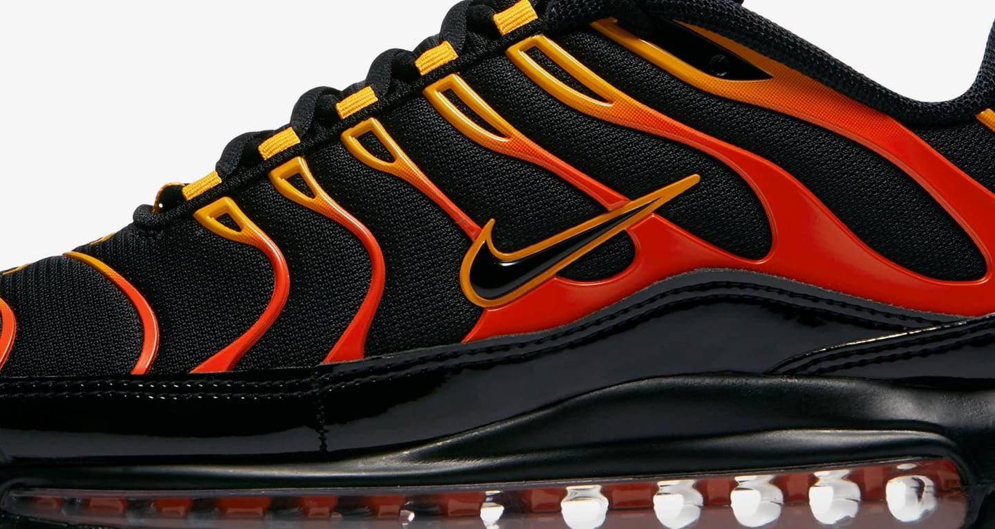 air max 97 plus black black engine shock orange
