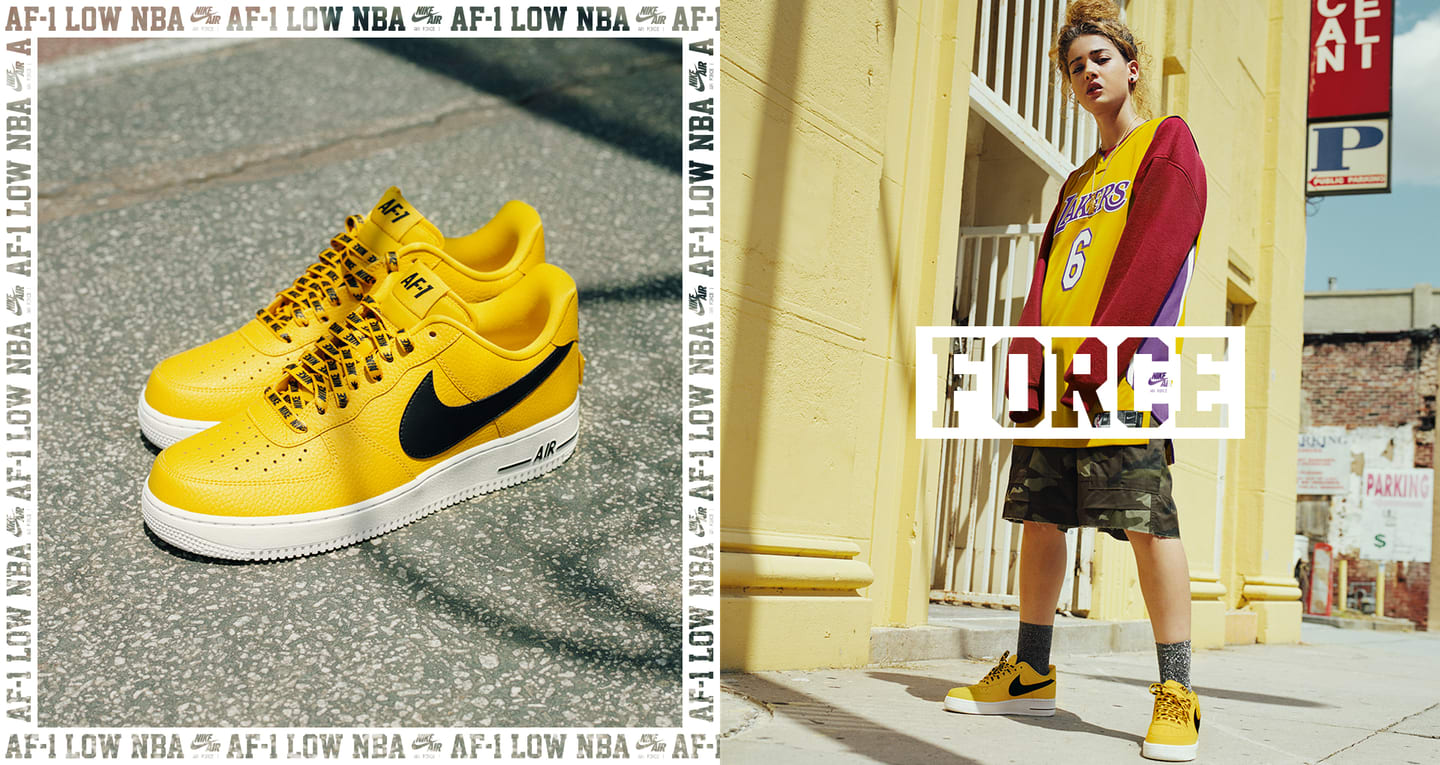 Nike AF-1 Low NBA 'Amarillo & Black & White' Release Date ...
