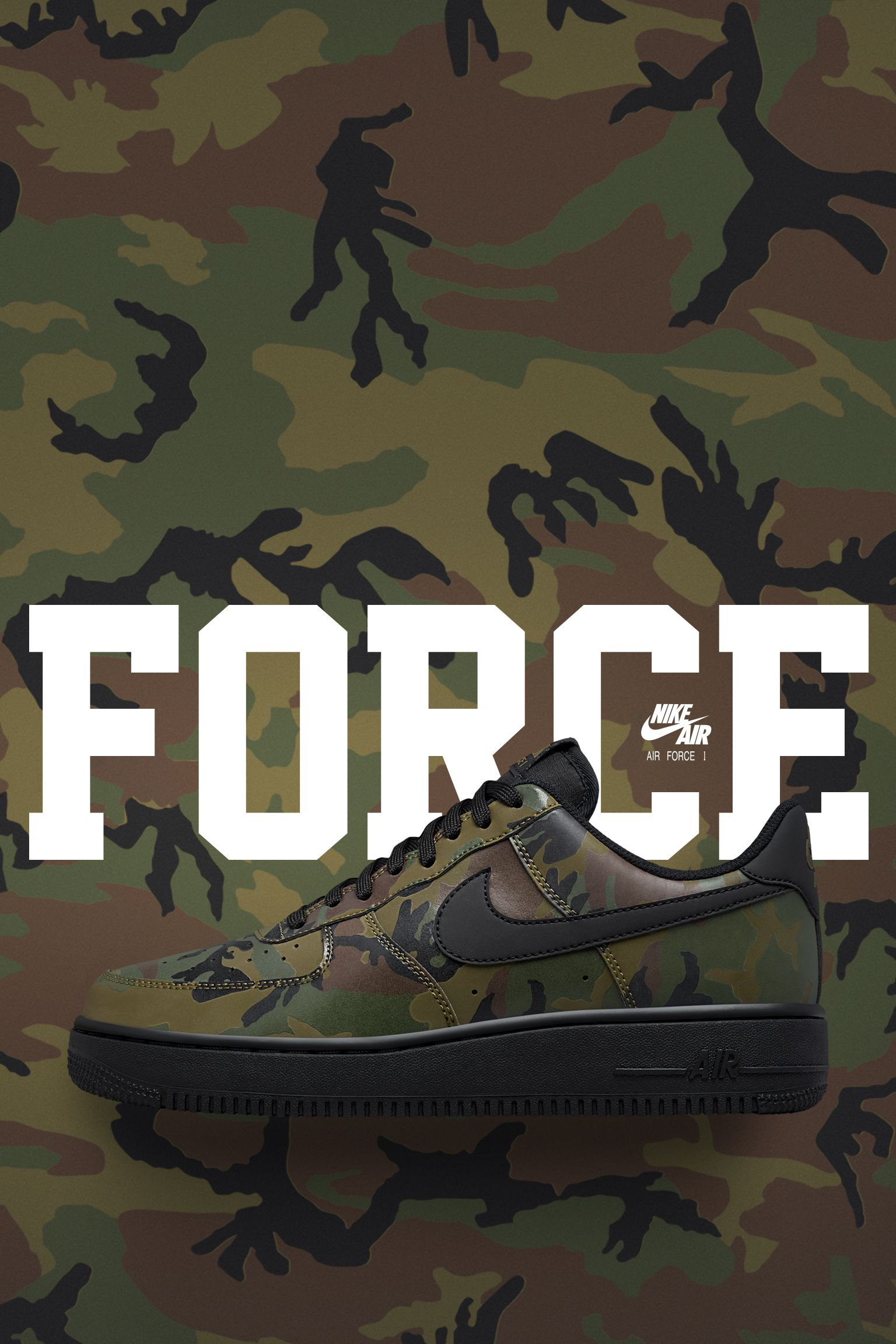 Nike Camo Air Date Force 1 'medium 07 Release Low Reflective' Olive 5AjL4R3