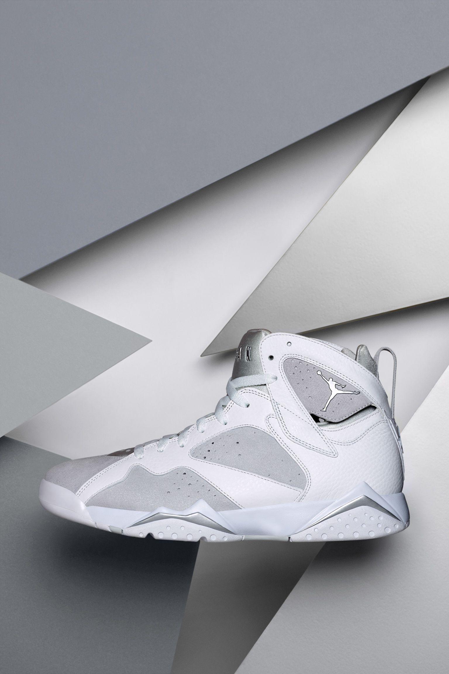 Air Jordan 7 Retro  White   Pure Platinum  Release Date. Nike+ SNKRS f5db836f6a5b