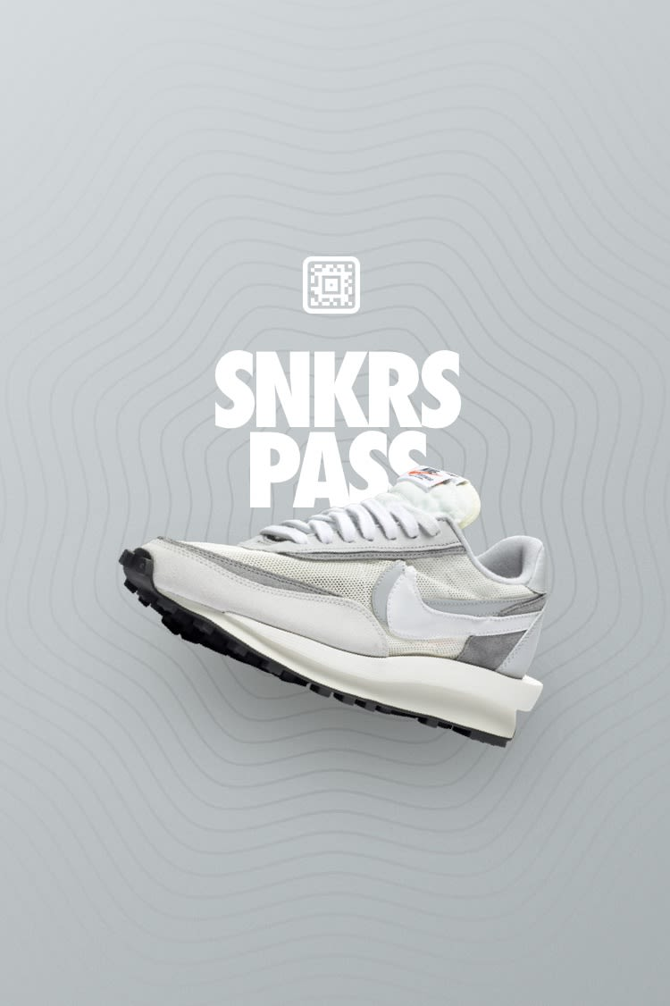 SNKRS Pass: sacai x Nike LDWaffle 'Summit White'  Nike+ SNKRS