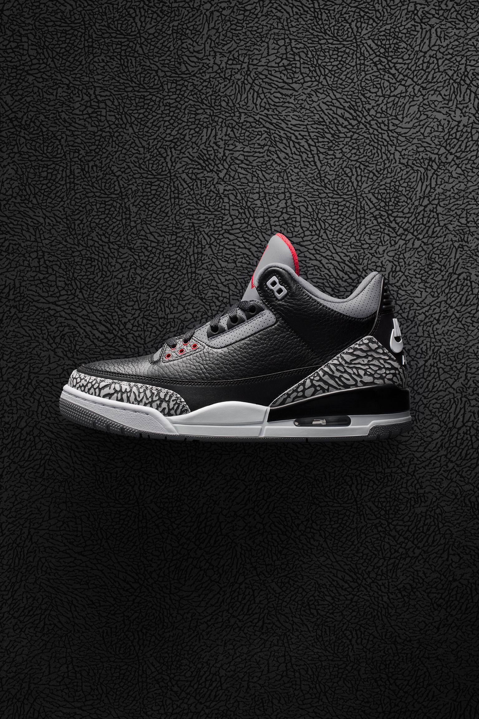 Air Jordan 3 Retro OG  Black Cement  2018 Release Date . Nike+ SNKRS 3d0dbe1abb