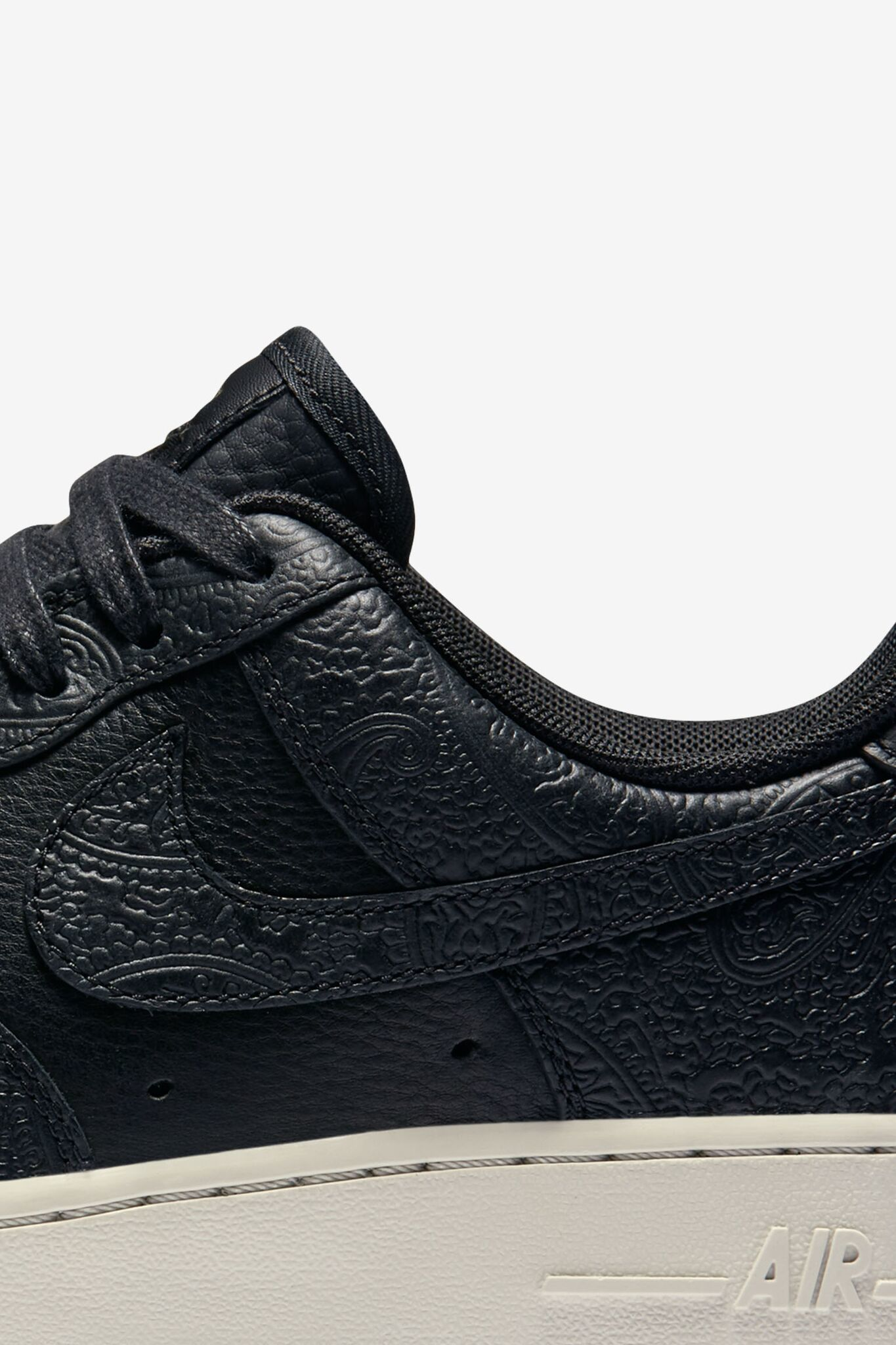 Women's Nike Air Force 1 'Black & Premium Paisley'.