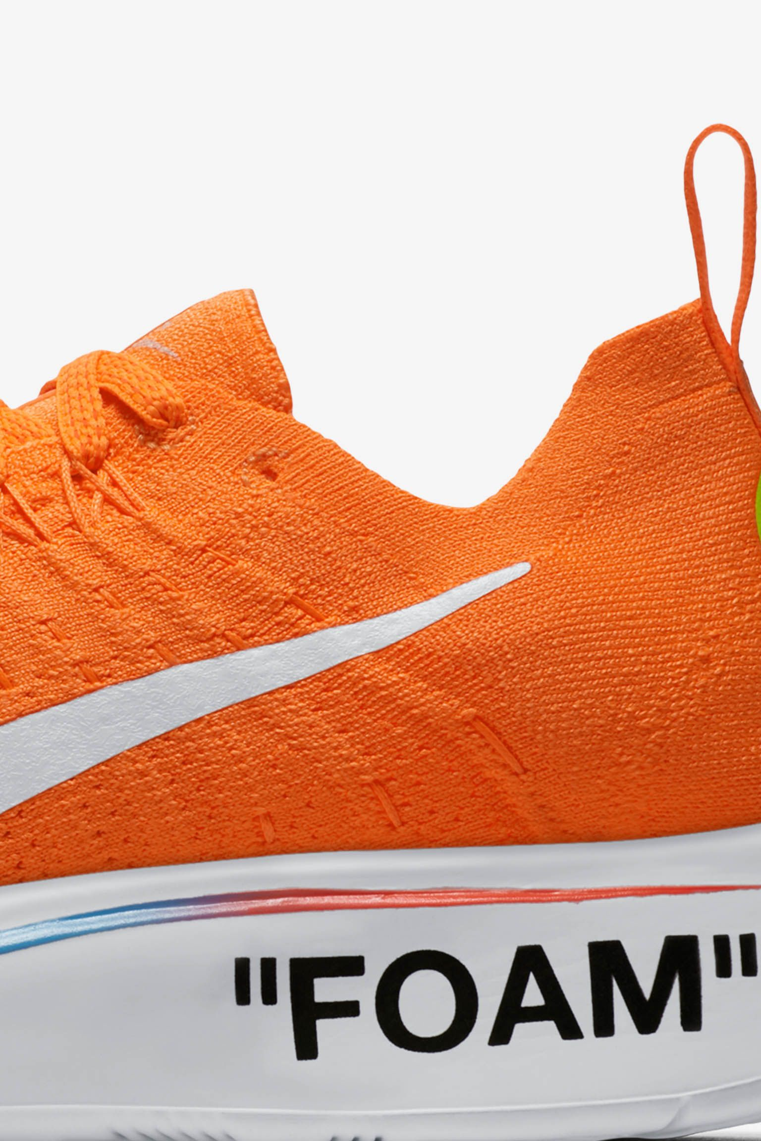 Nike Zoom Fly Mercurial Flyknit Off-White 'Total Orange & Volt & White' Release Date