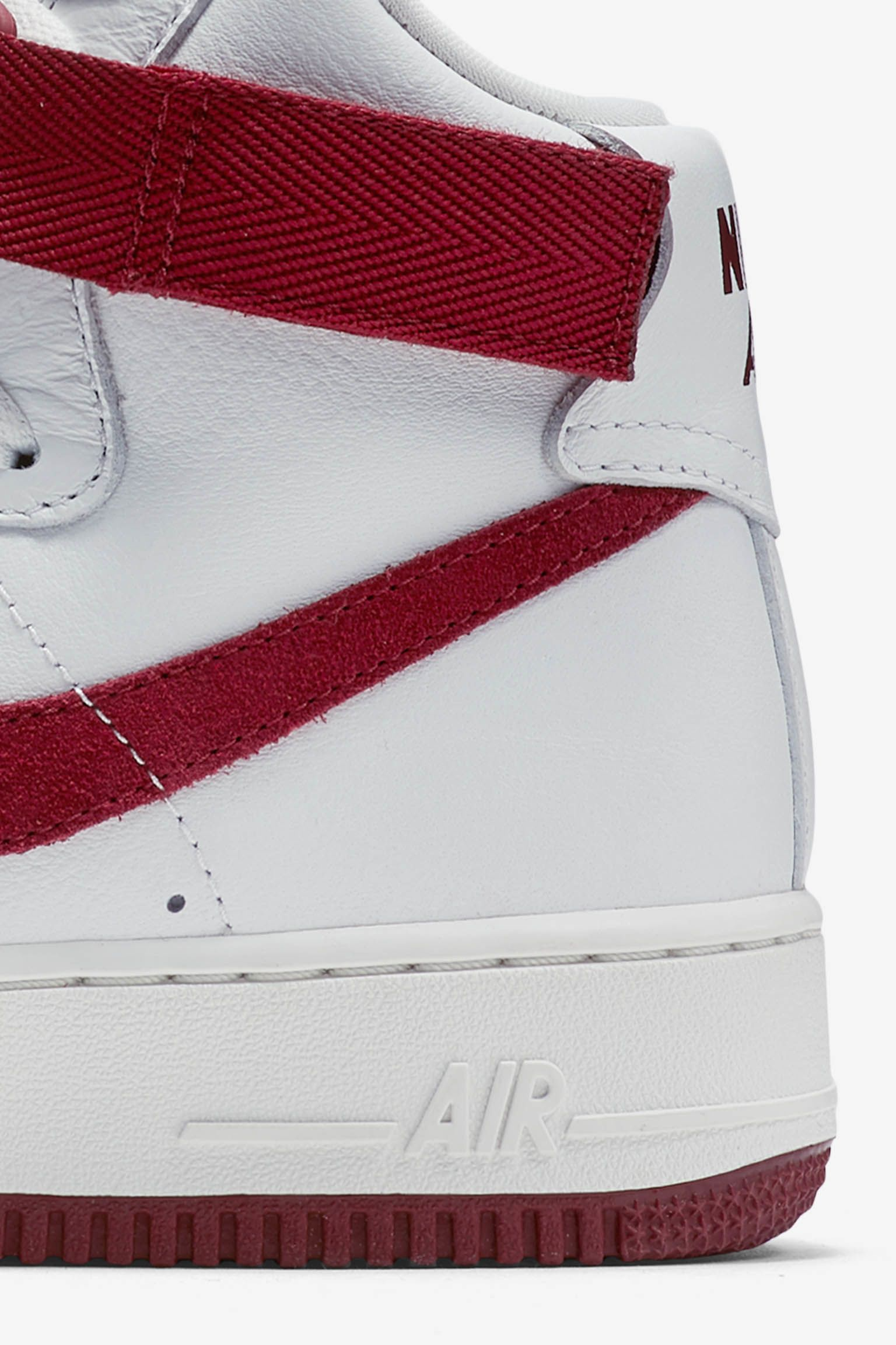 Nike Air Force 1 High 'White & Team Red'