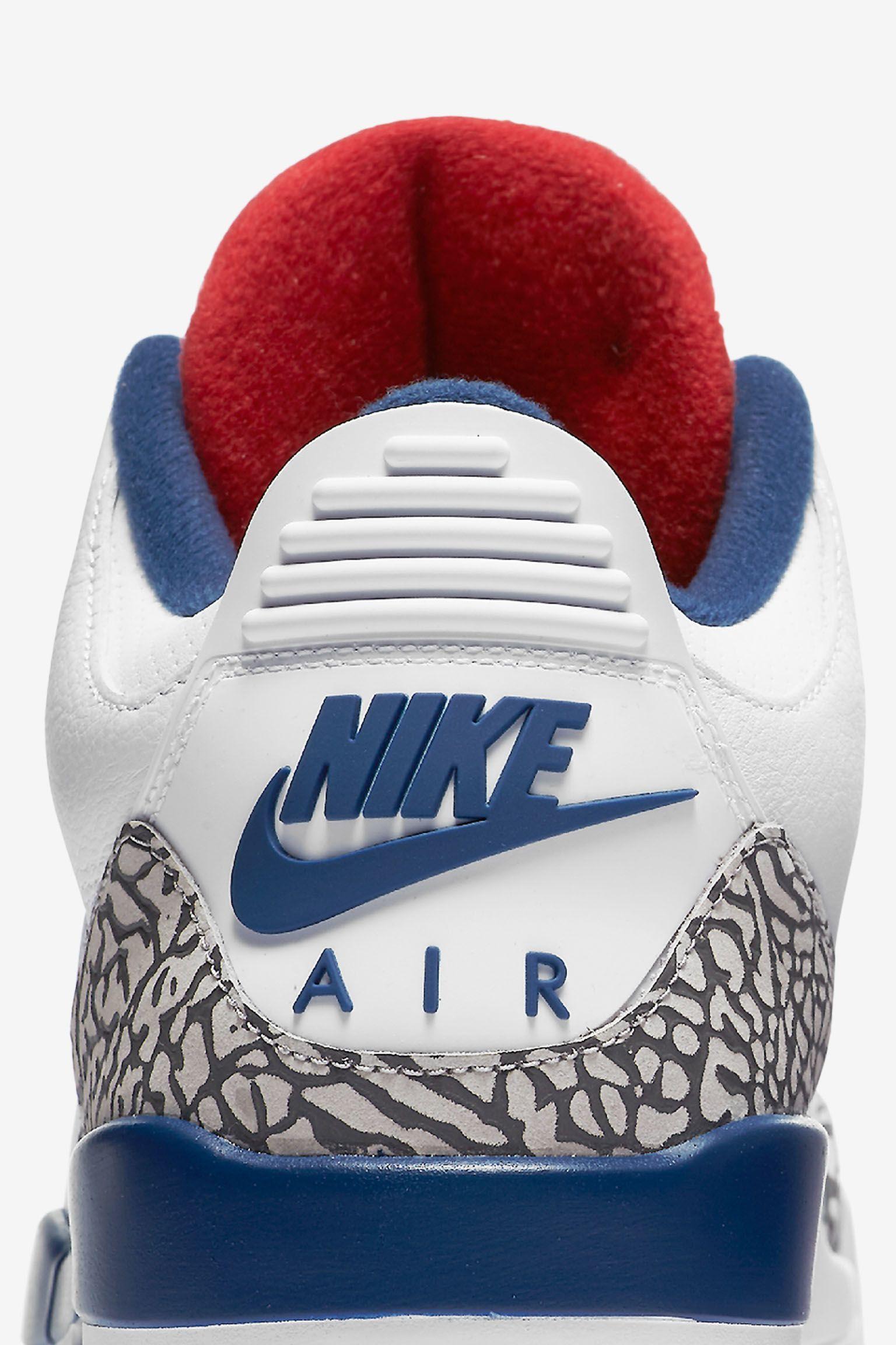 Air Jordan 3 Retro OG 'White & Cement Grey & Blue'