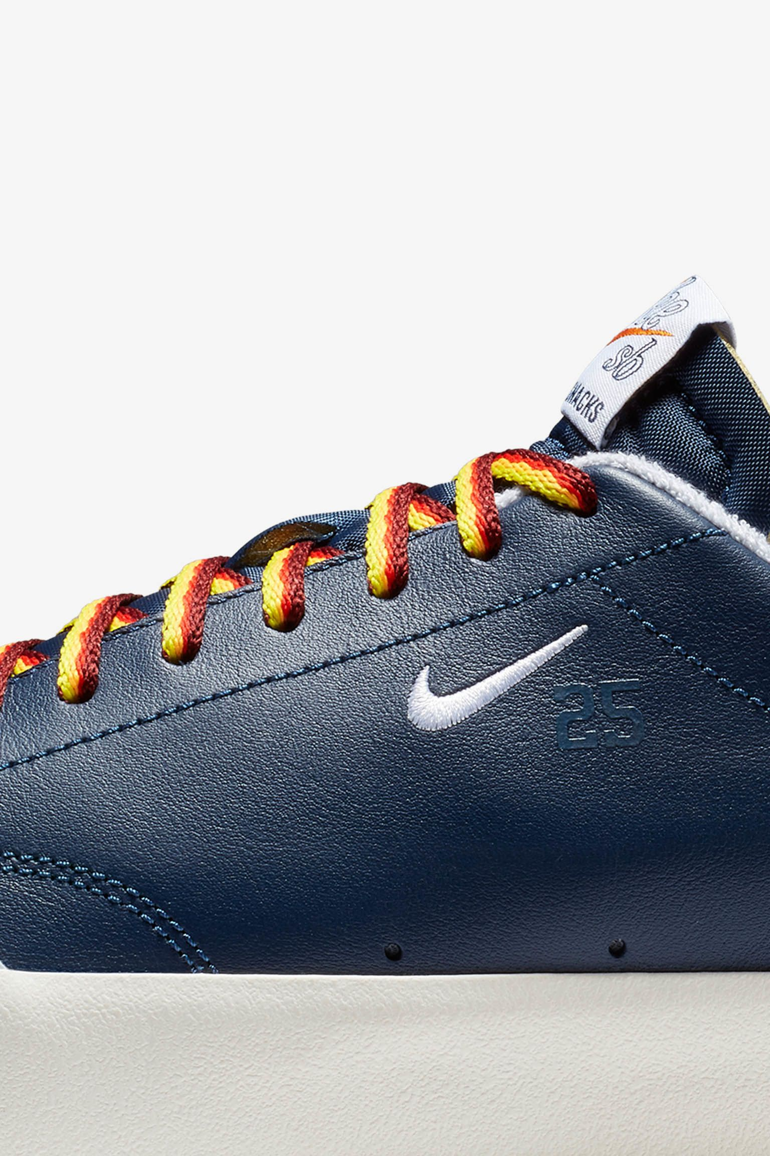 Nike SB Zoom Blazer Low Quartersnacks 'Navy & White' 发布日期