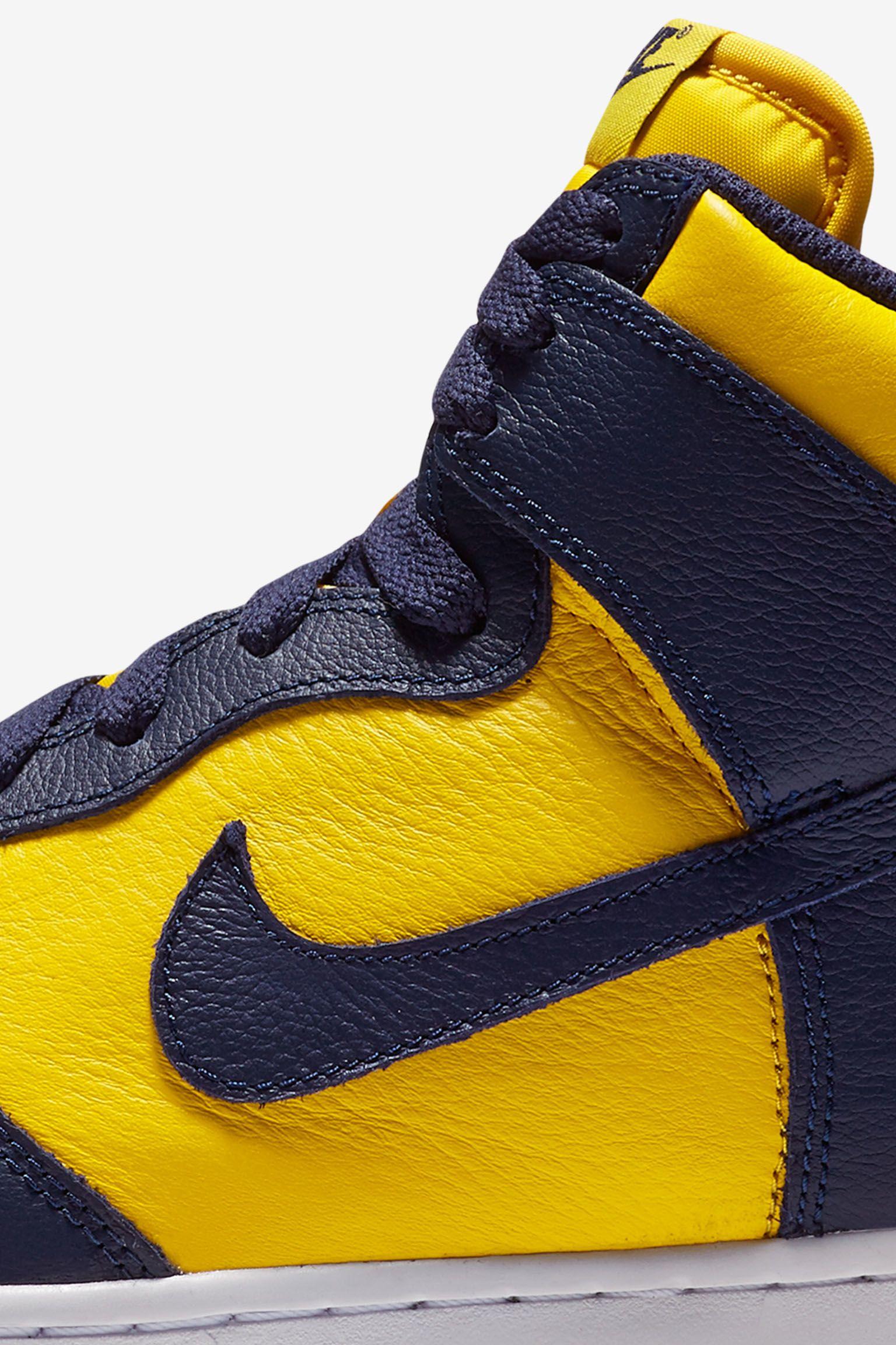 Nike College Colors Program: Nike Dunk High 'Michigan'
