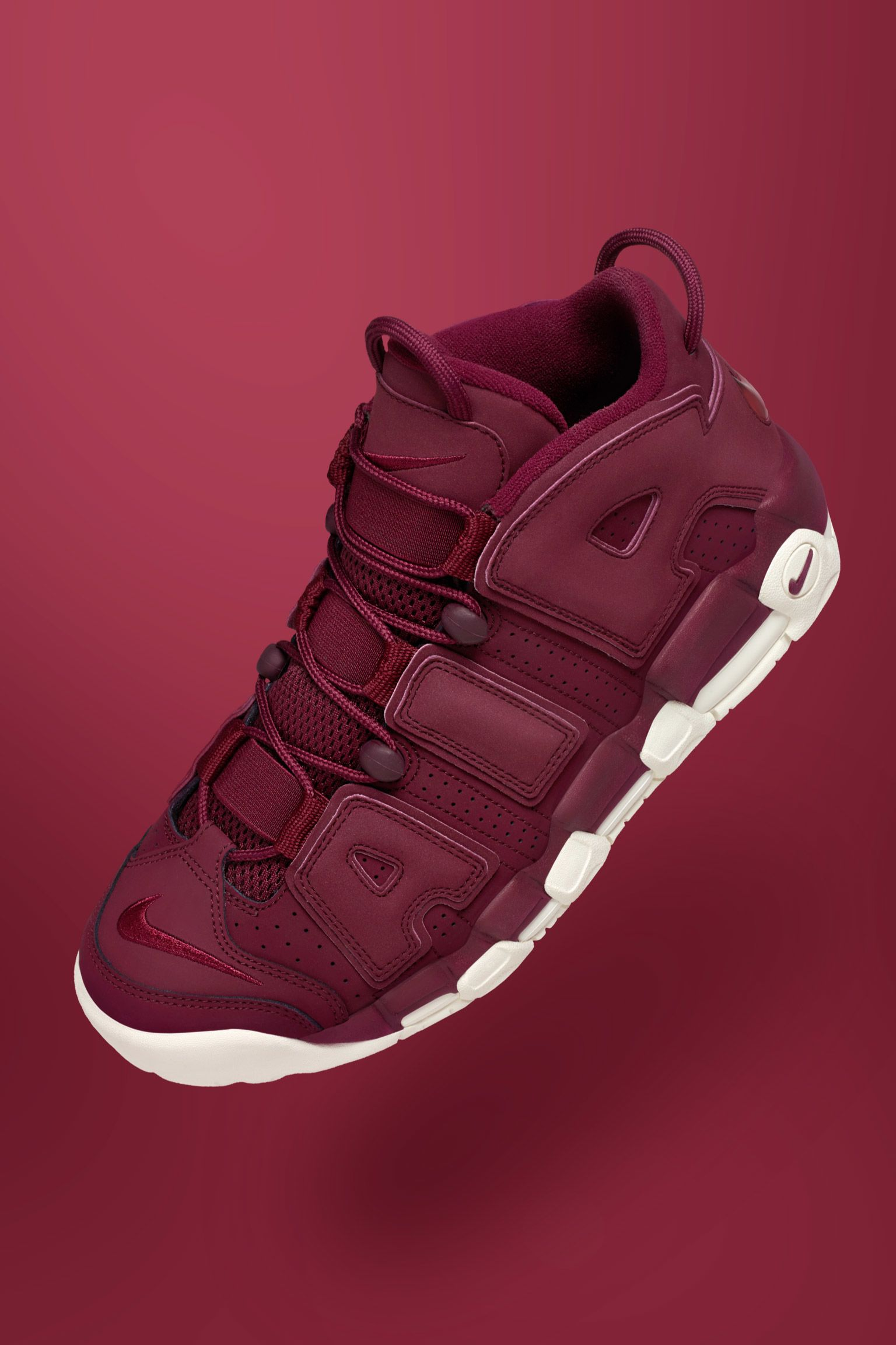Nike Air More Uptempo 'Night Maroon' Select Retailers