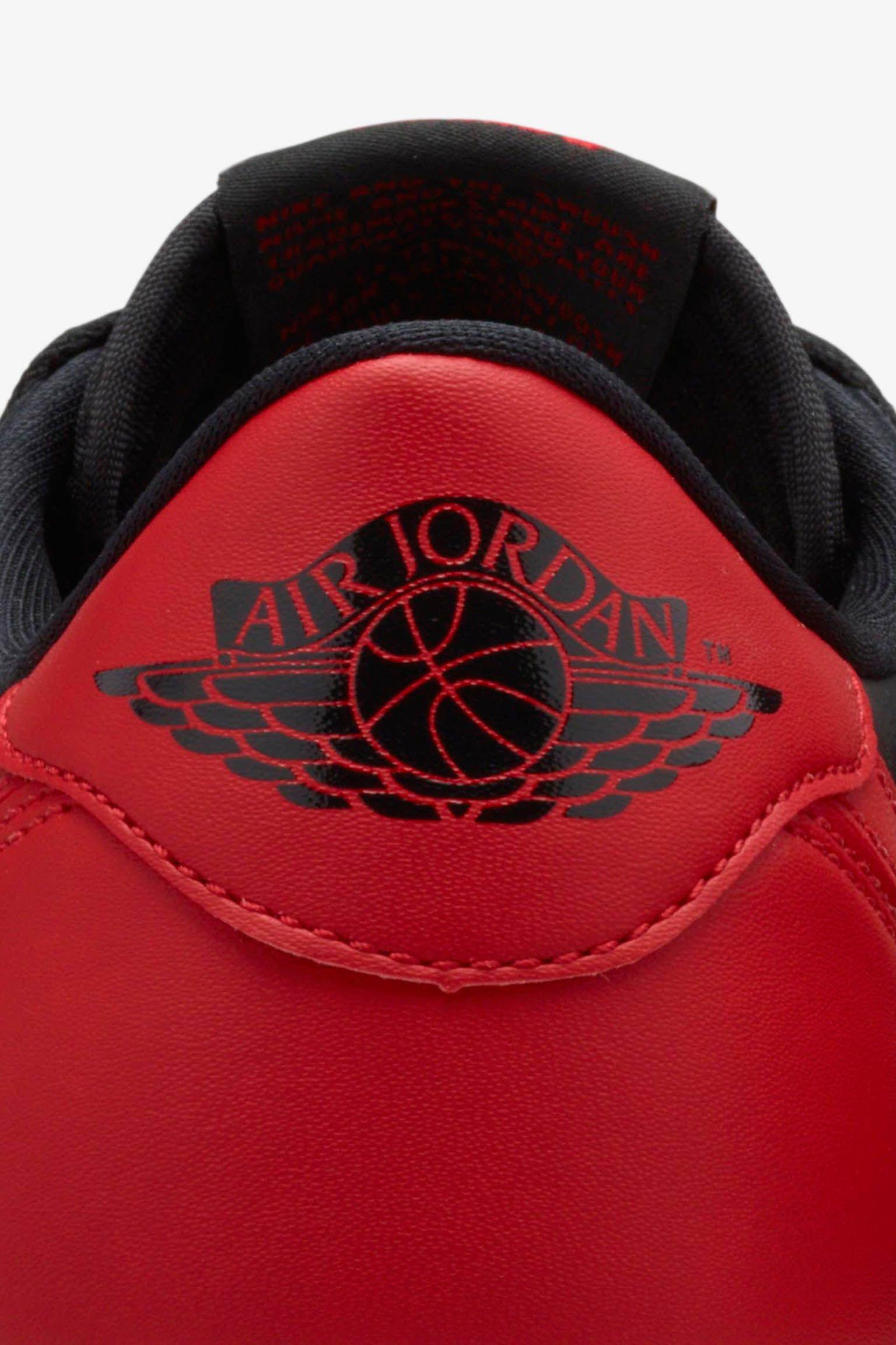 Air Jordan 1 Retro Low 'Black & Varsity Red' Release Date