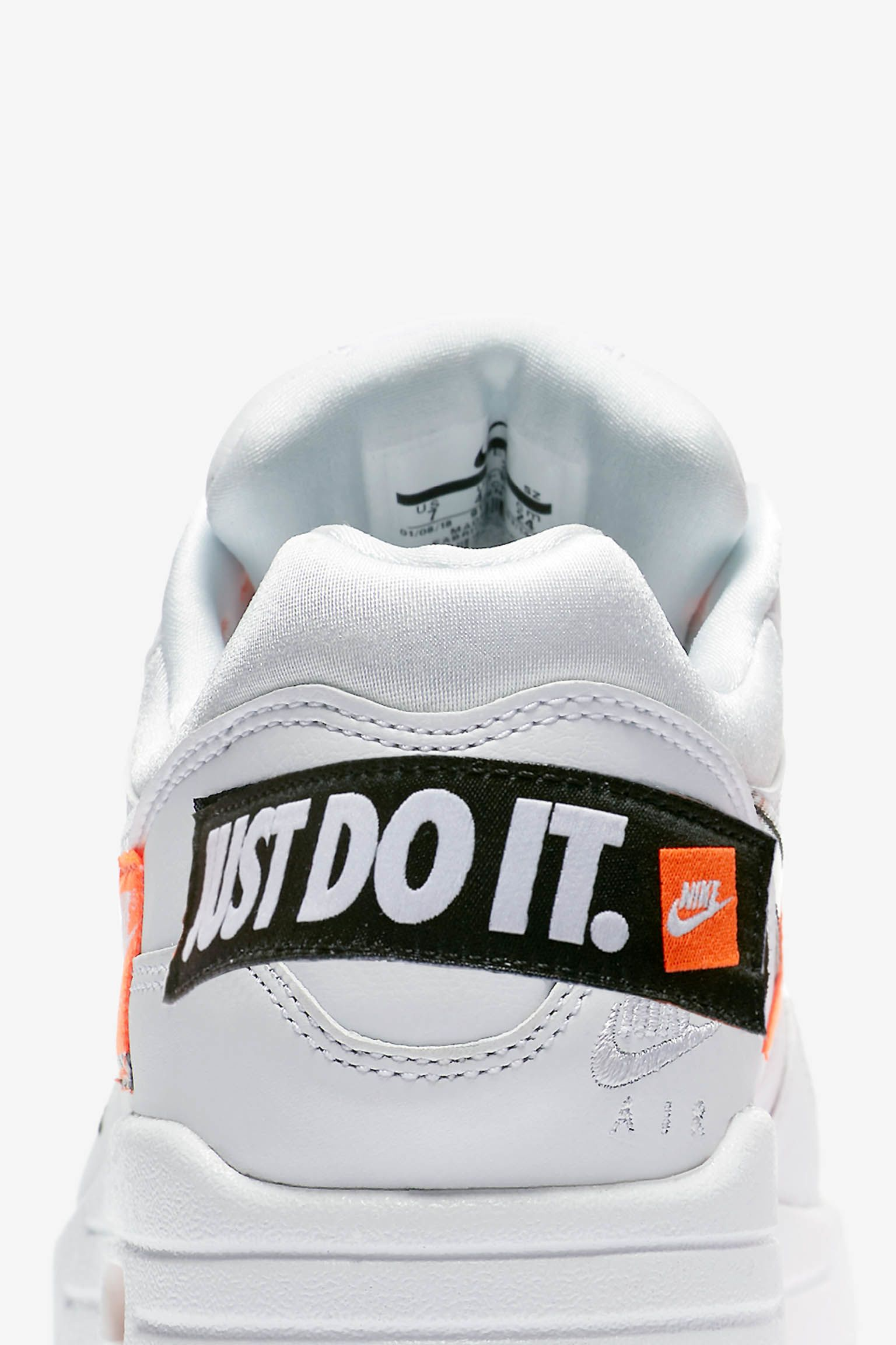 Nike Air Max 1 Just Do It Collection 'White & Total Orange' Release Date