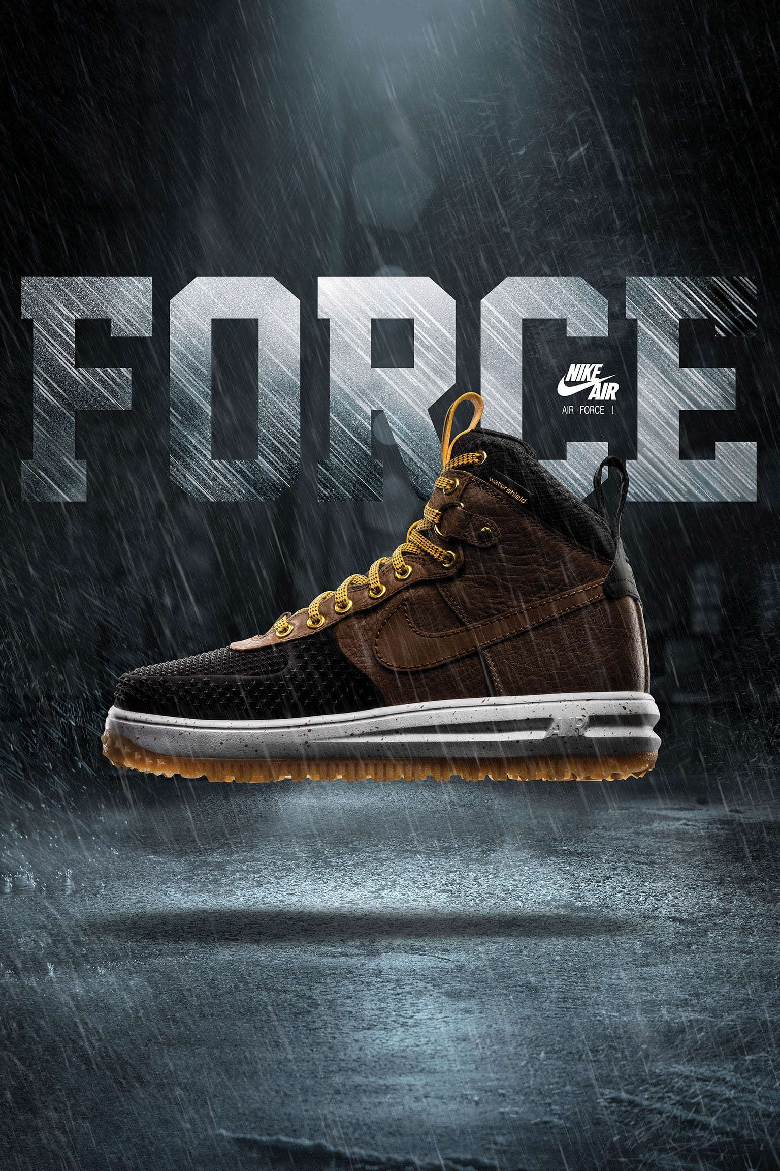 Nike Lunar Force 1 Duckboot 'Black & Light British Tan'