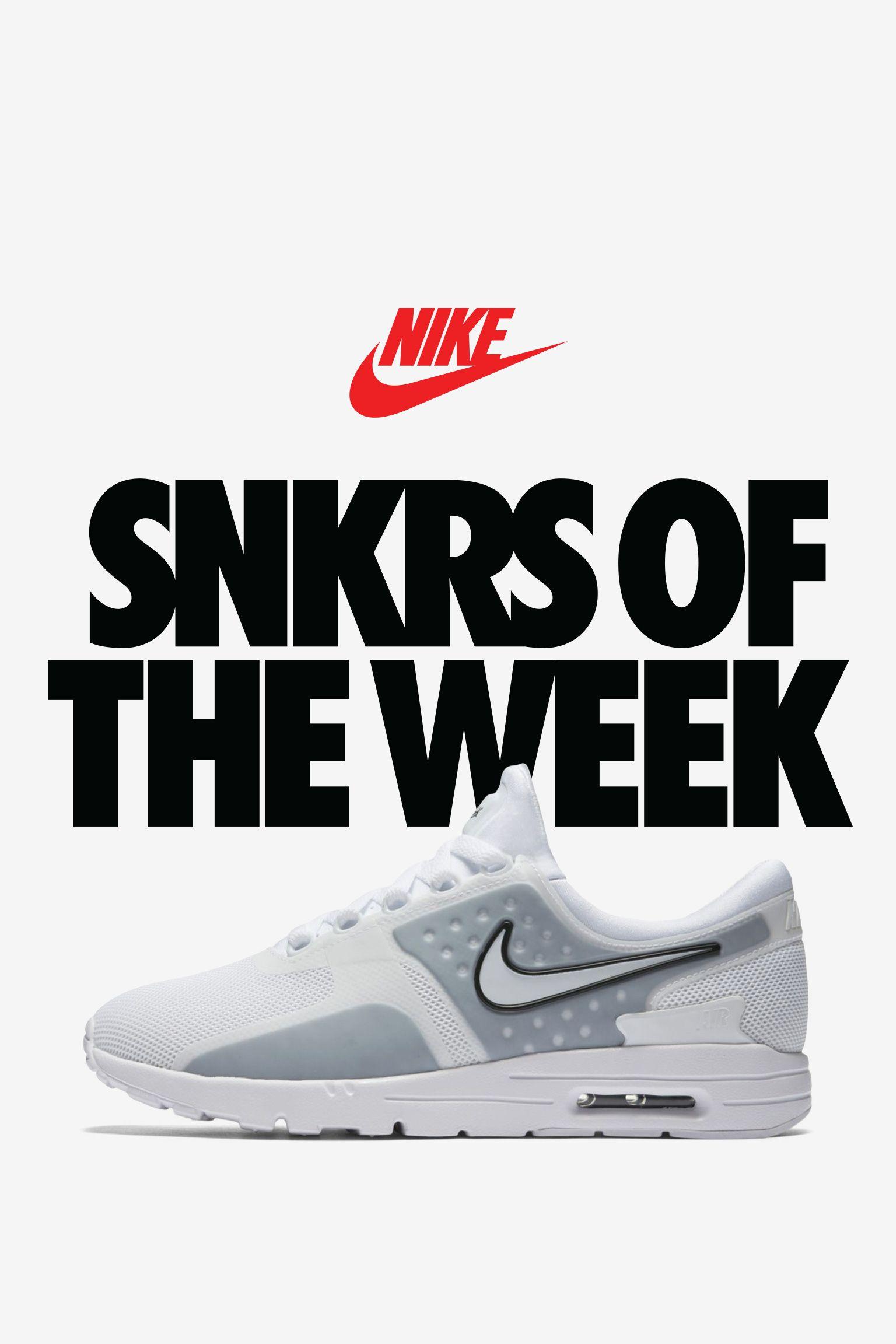 Women's Nike Air Max Zero 'White & Wolf Grey'. Nike+ SNKRS