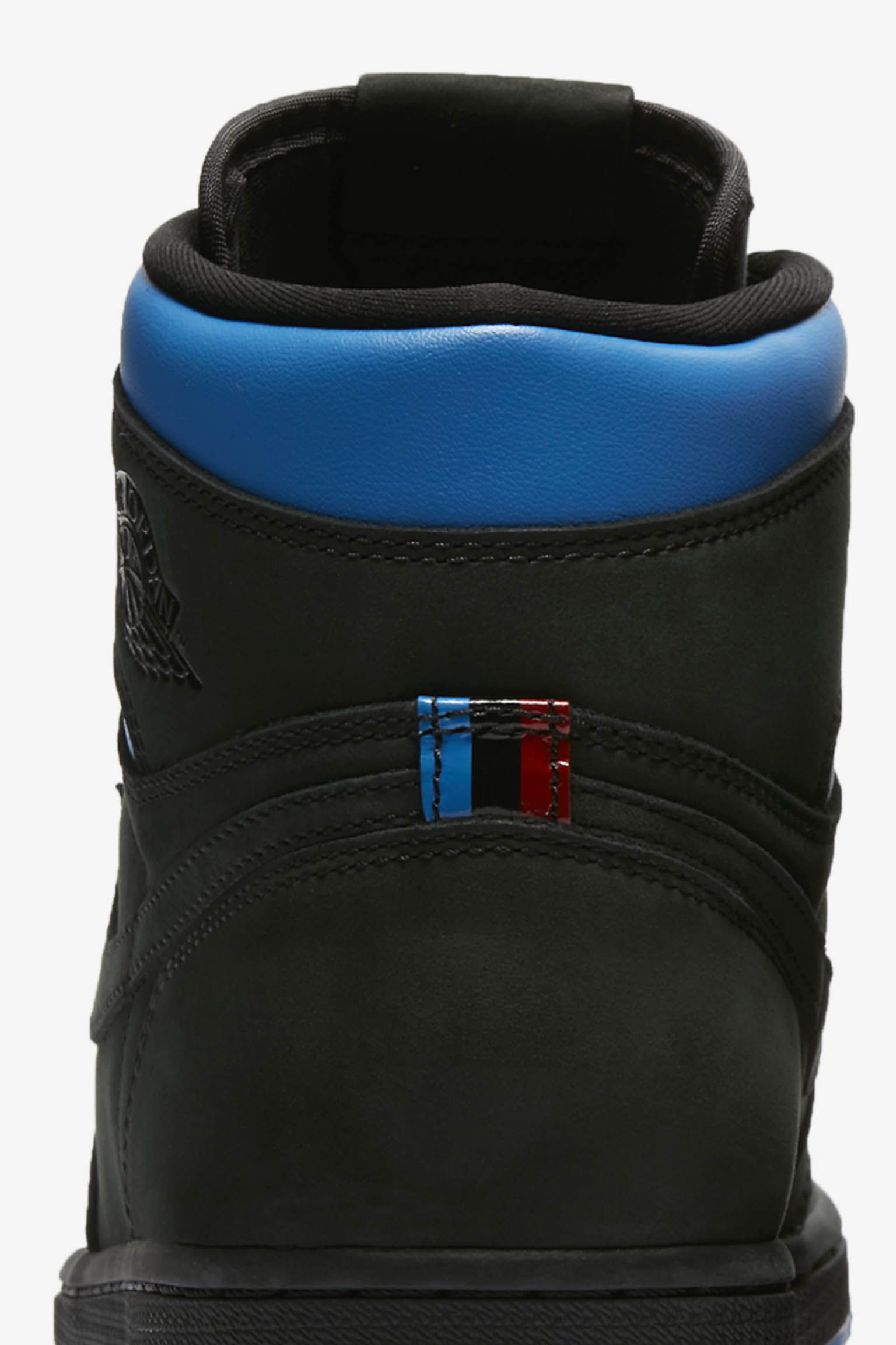 super popular 3b6ff 2d9cc ... new style air jordan 1 retro hi og q54 black university red italy blue  220e4 3e1d6