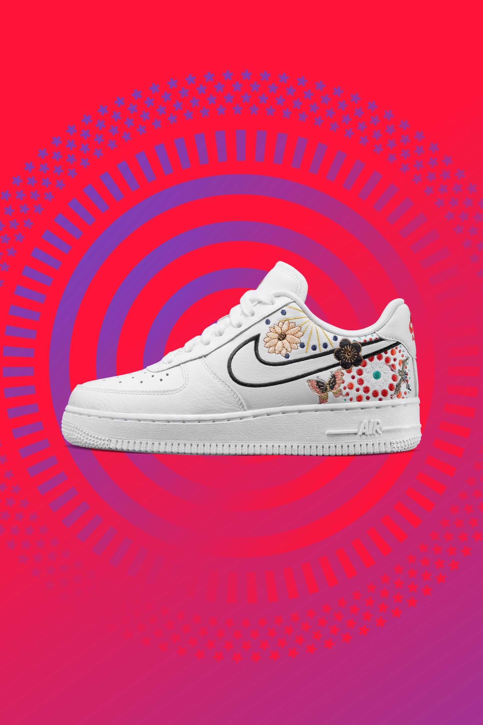 Nike Women's Air Force 1 LNY 'White & Habanero Red' Release Date