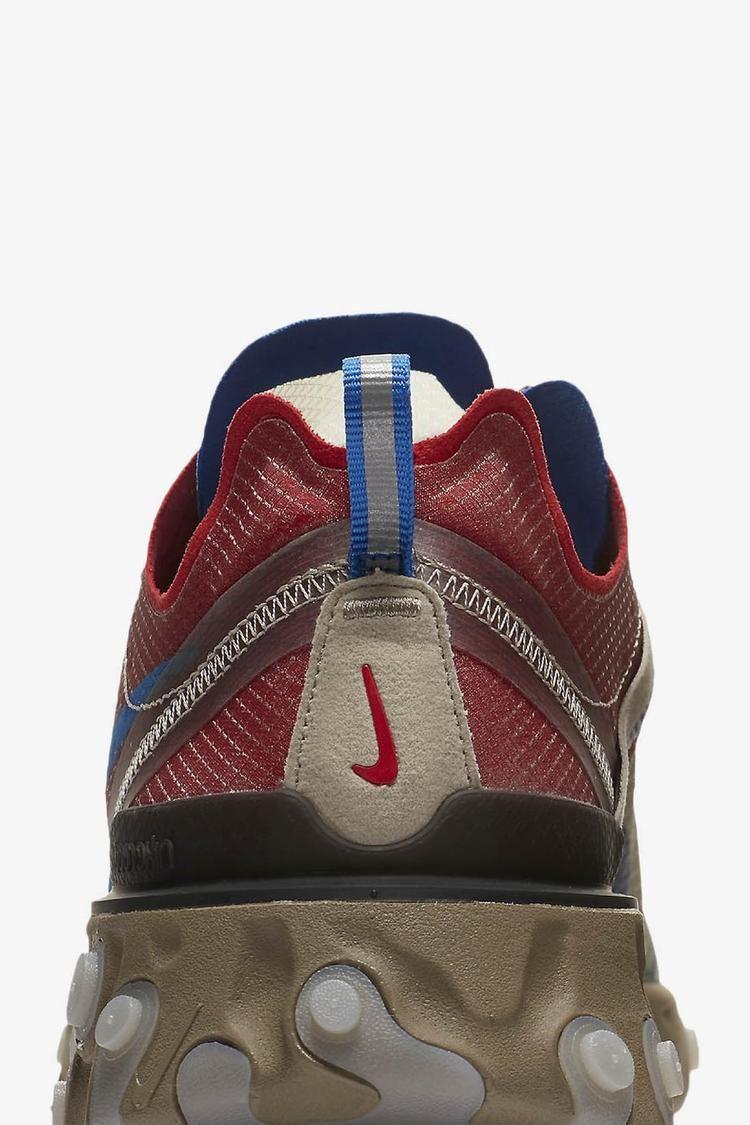 Nike React Element 87 Undercover 'Light Beige Chalk & Signal Blue' Release Date