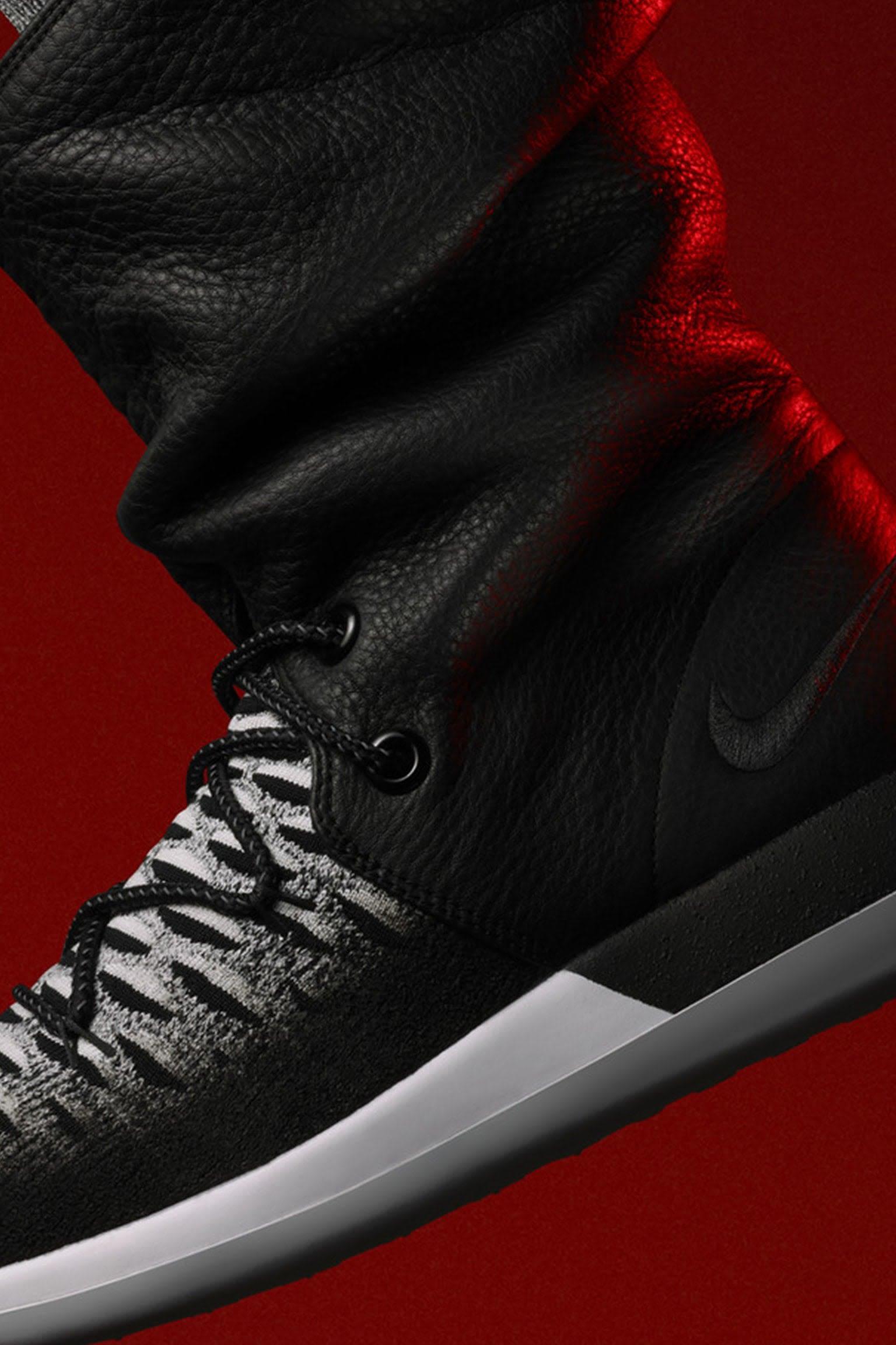 """Γυναικείο Nike Roshe Two Flyknit Hi Sneakerboot """"Black & White"""". Ημερομηνία κυκλοφορίας"""