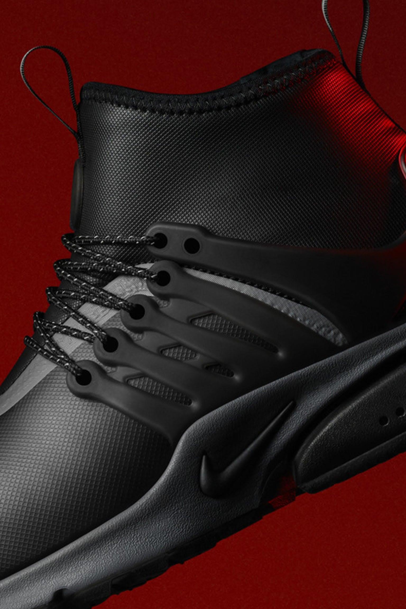 Nike Air Presto Mid Utility-sneakerstøvle 'Black & Reflect Silver' til kvinder. Lanceringsdato