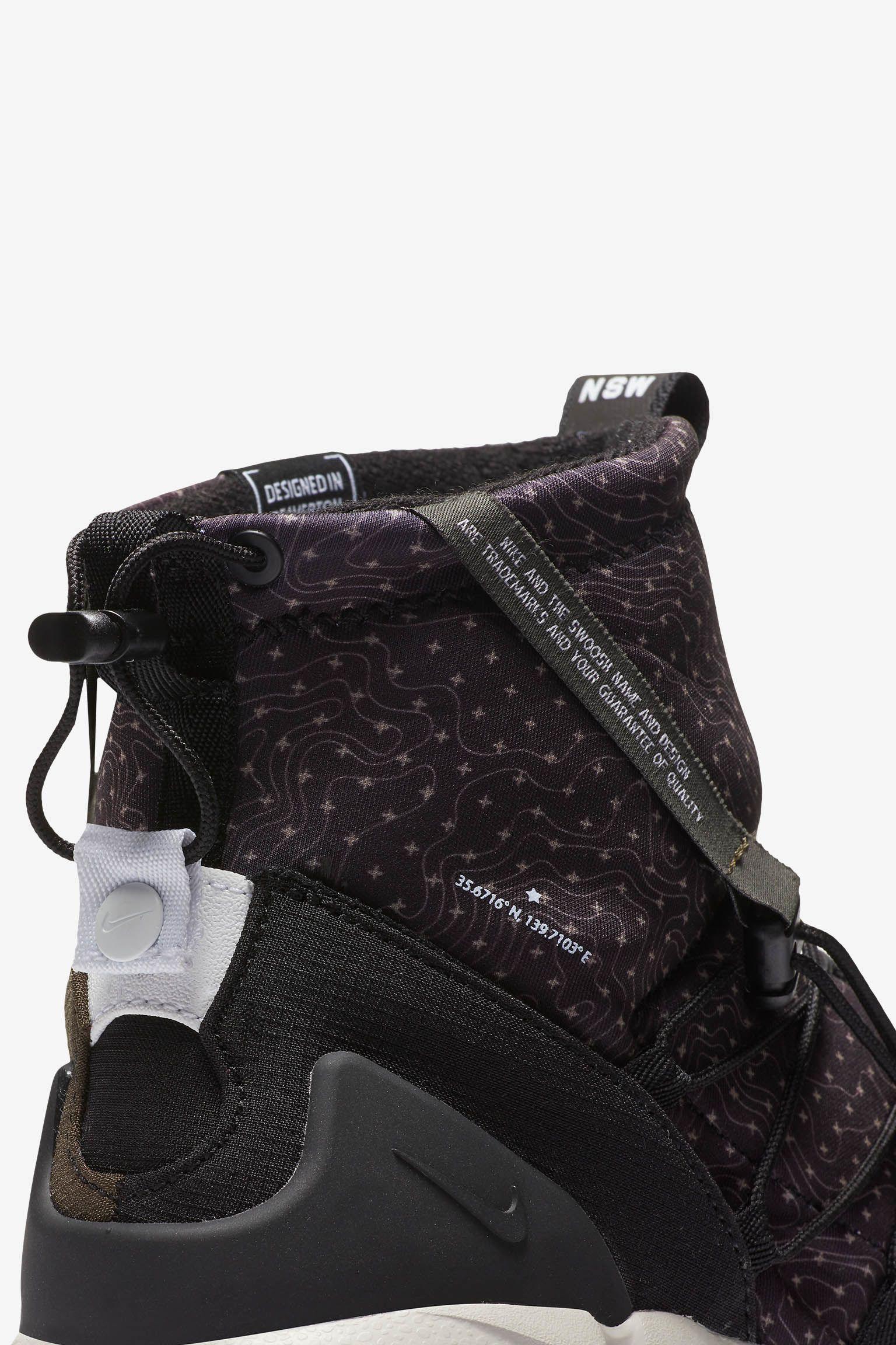 Nike Air Footscape Mid Utility 'Black & Cargo Khaki' Release Date