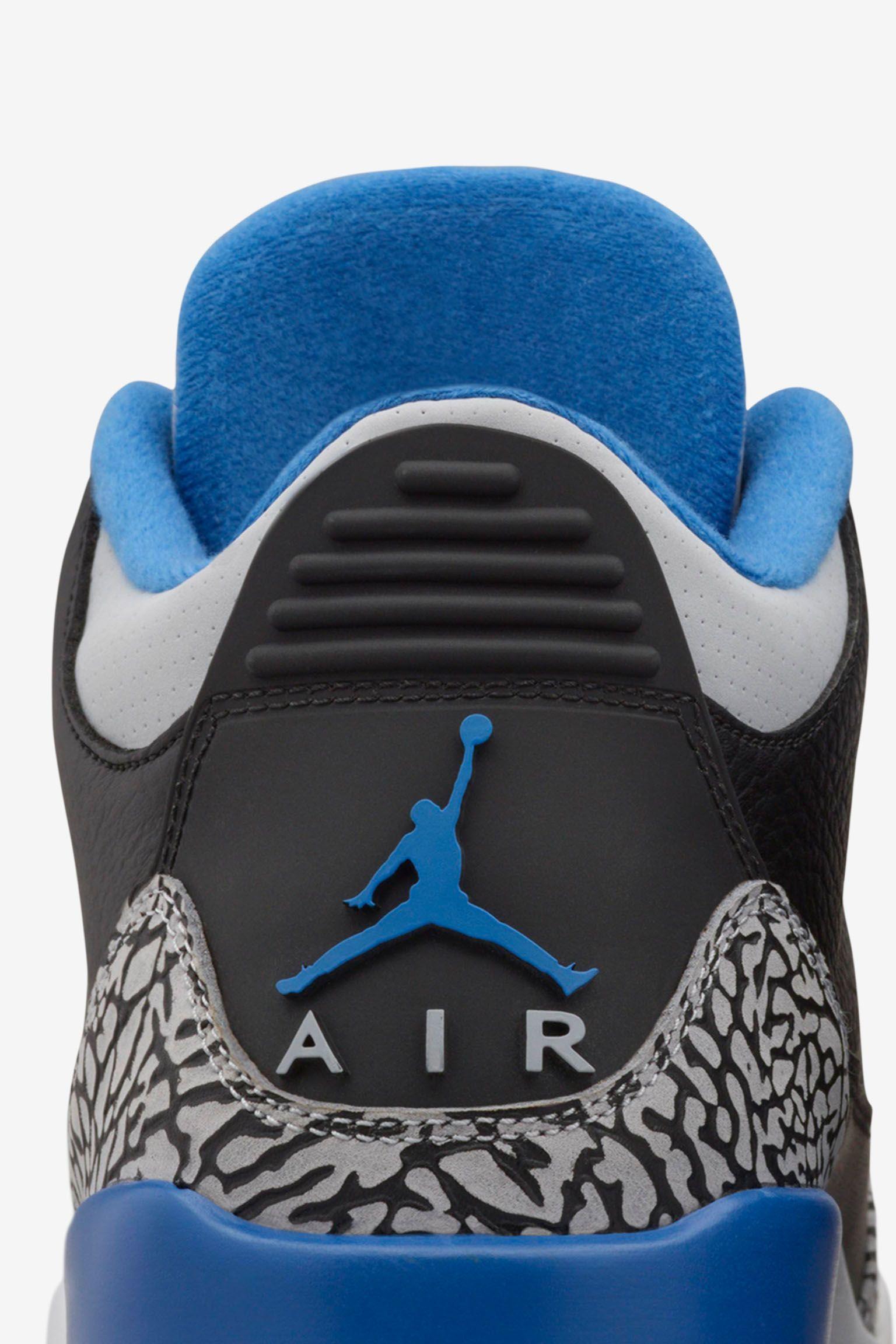 "Air Jordan 3 Retro ""Sport Blue"". Ημερομηνία κυκλοφορίας"