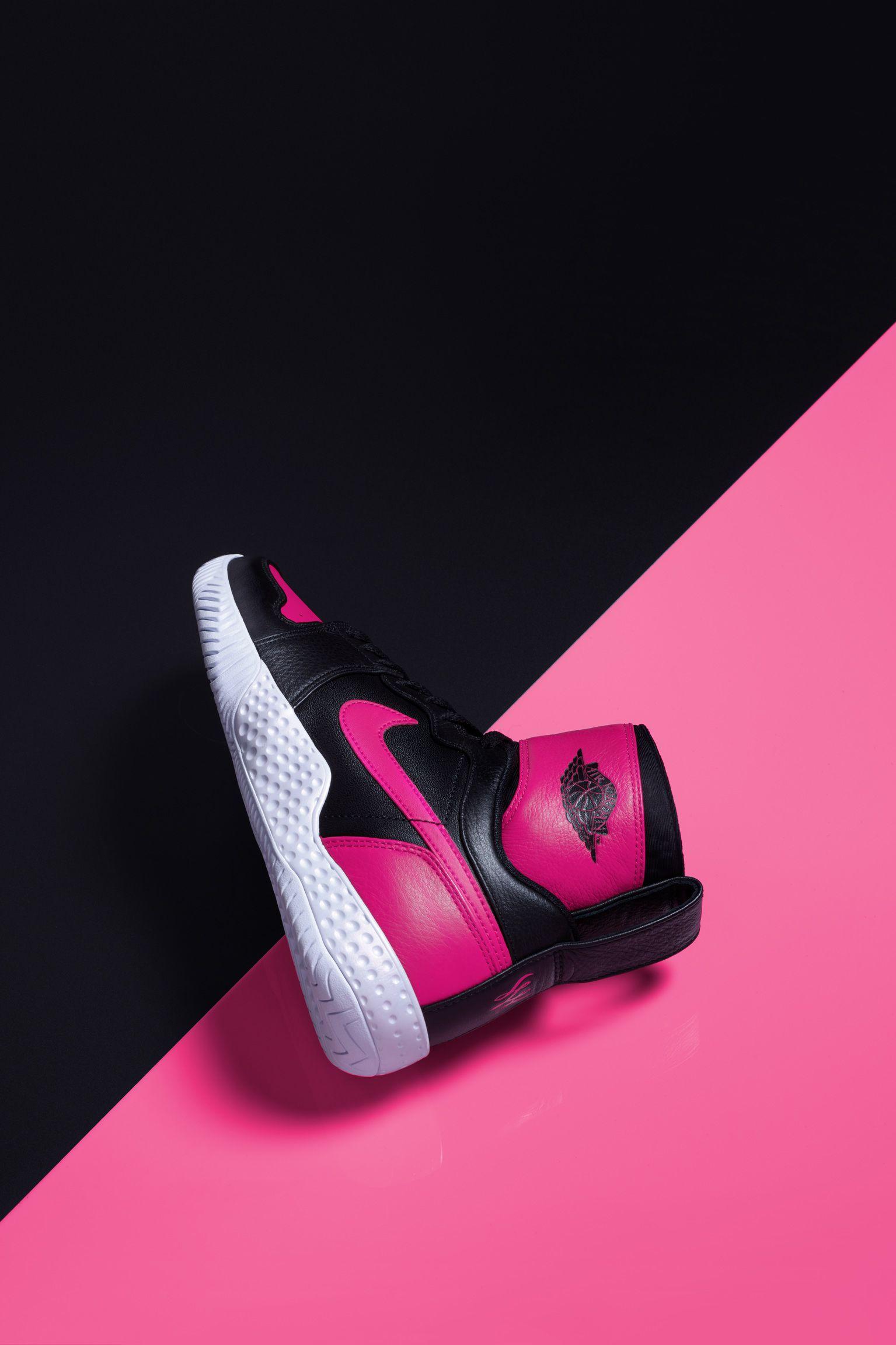 """NikeCourt Flare AJ1 """"Black & Hyper Pink"""" til kvinder"""